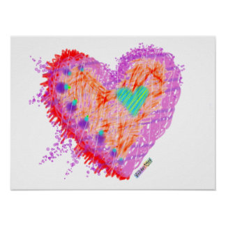 Posters, Prints - Happy Heart Poster