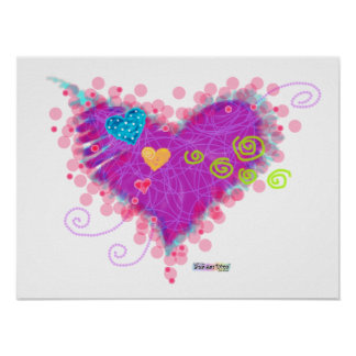 Posters, Prints - HEARTS A FIRE! Poster