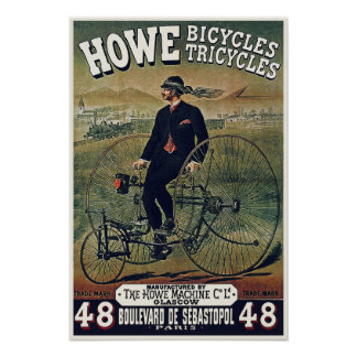 Posters/Prints: Howe Bicycles Tricycles