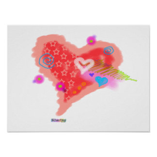 Posters, Prints - ONE CRAZY HEART Poster