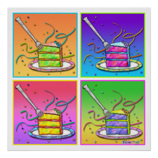 Posters, Prints - Pop Art Cake