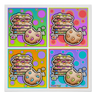 Posters, Prints - Pop Art Cookies