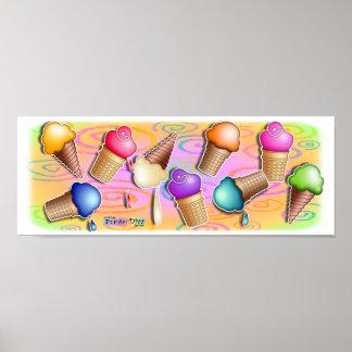 Posters, Prints - Pop Art Ice Cream Cones