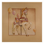 Posters, Prints - Purple Pony Carousel Poster