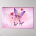 Posters púrpuras suaves de la mariposa
