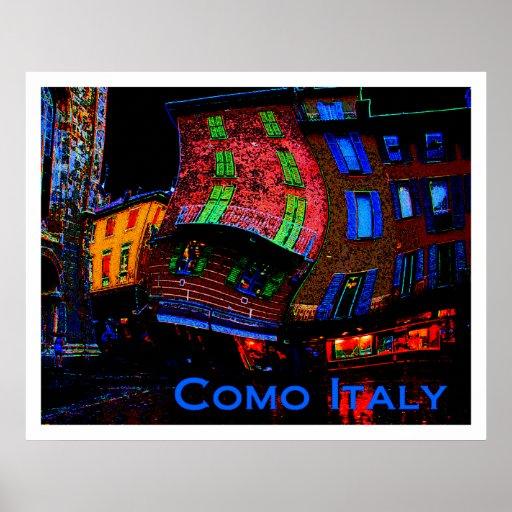Posters raros del viaje - Como Italia