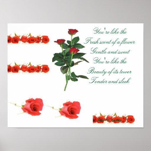 posters románticos del poema