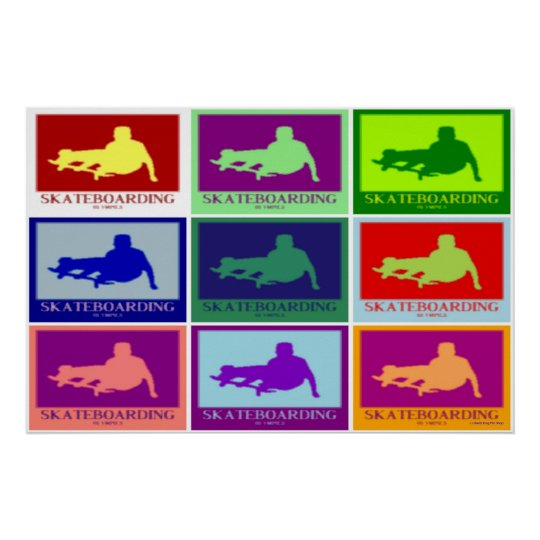 POSTERS - SKATEBOARDING OLYMPICS POP ART WALL ART