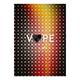 Posters superiores retros del corazón de Vape