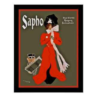 """Posters Theater Vintage """"Sapho"""""""