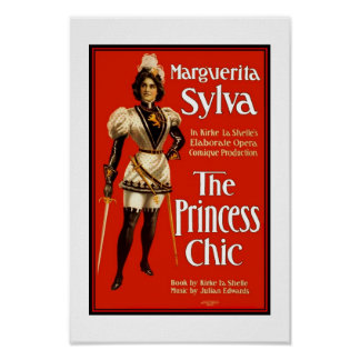 "Posters Theater Vintage ""The Princess Chic"""