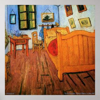 Posters - Vincent's Bedroom in Arles 1888 Van Gogh