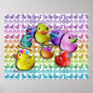 Posters y arte pop de goma de Duckies de la bella