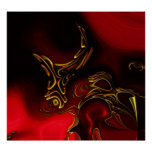 Posters ZIZZAGO Art Abstract Red Black Gold 2