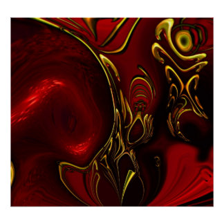 Posters ZIZZAGO Art Abstract Red Black Gold 5