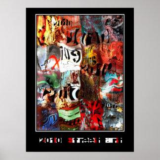 Posters Zizzago Street Art Abstract Urban Grunge