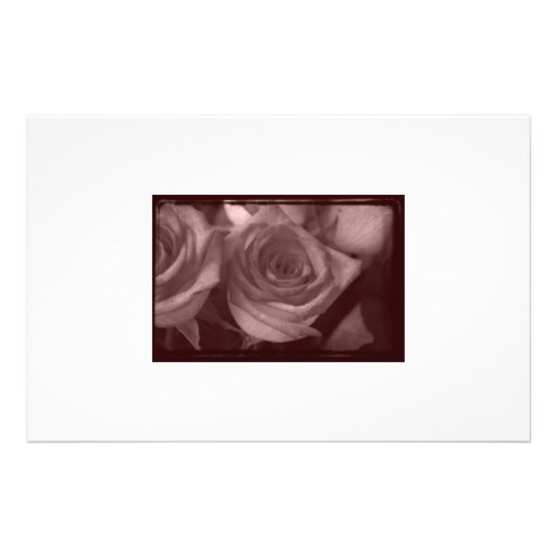 Postes color de rosa personalized stationery