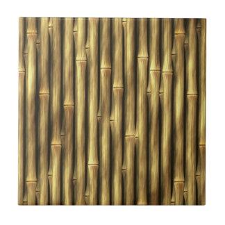 Postes de bambú modelados azulejo cuadrado pequeño