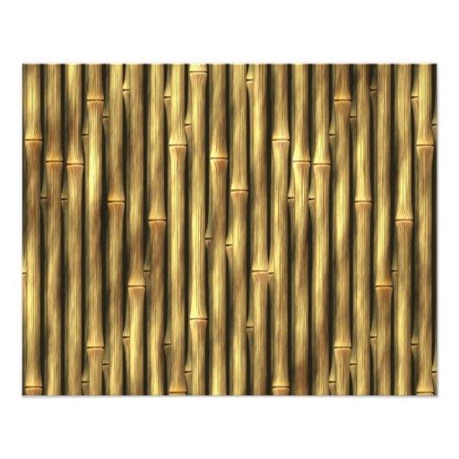Postes de bambú modelados cojinete