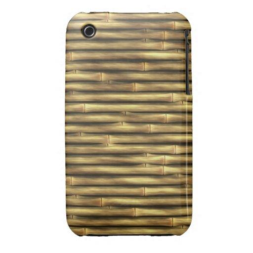 Postes de bambú modelados Case-Mate iPhone 3 protectores