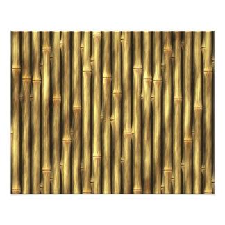 Postes de bambú modelados fotografía