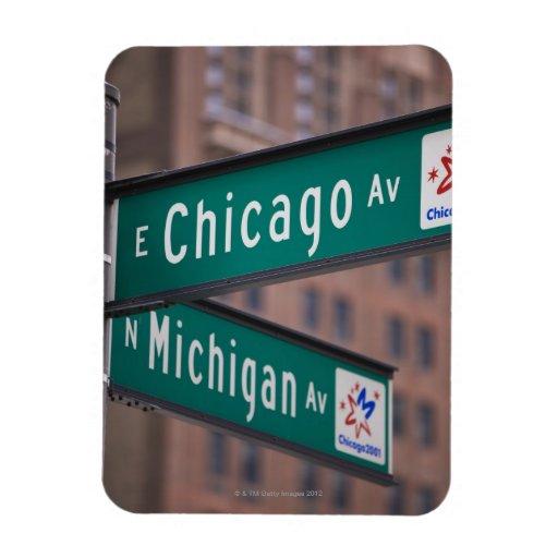 Postes indicadores de la avenida de Chicago y de Imanes Flexibles