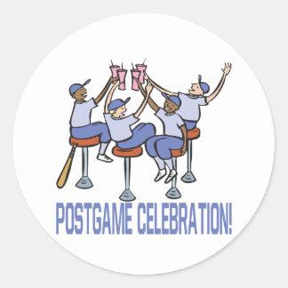 PostGame Celebration Classic Round Sticker