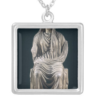 Posthumous statue of Livia  from Velleia Silver Plated Necklace