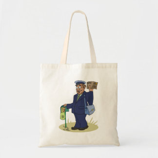 Postie Delivering Tote Bag