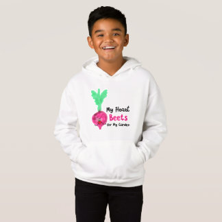 Postive Beet Pun - My Heart Beets for my Garden Hoodie