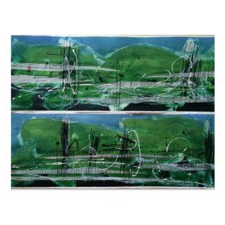 Postkarte, abstrakte Landschaft Postcard