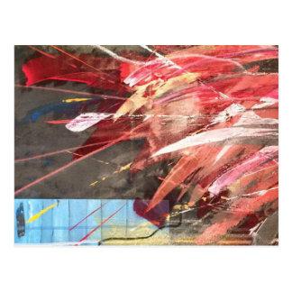 Postkarte, abstrakte Malerei Postcard