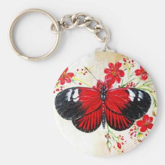 Postman Butterfly Basic Round Button Keychain