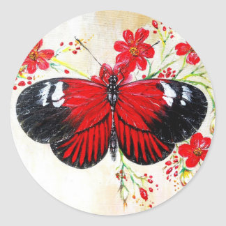 Postman Butterfly Classic Round Sticker