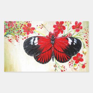 Postman Butterfly Rectangular Sticker