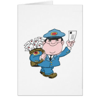 Postman Greeting Card