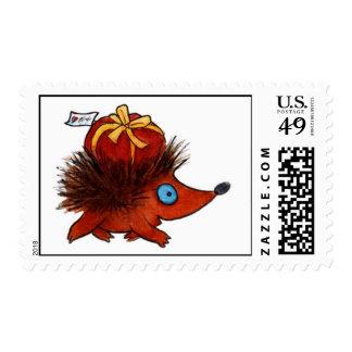 Postman - hedgehog postage stamp