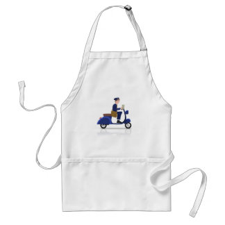 Postman on Scooter Adult Apron