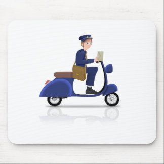 Postman on Scooter Mouse Pad