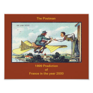 POSTMAN or MAILMAN 1899 Prediction of Year 2000 Poster