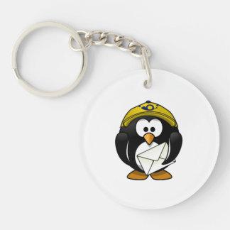 Postman Penguin Bird Cartoon Keychain