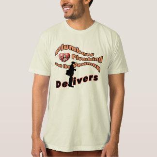 Postman & Plumber Funny T-shirt Saying