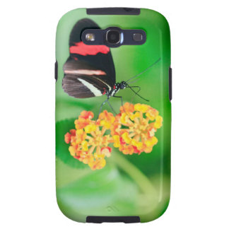 Postman rosina butterfly collecting nectar from samsung galaxy SIII case