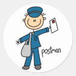 Postman Stick Figure Sticker