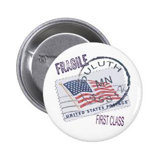 Postmark Duluth 55812 2 Inch Round Button