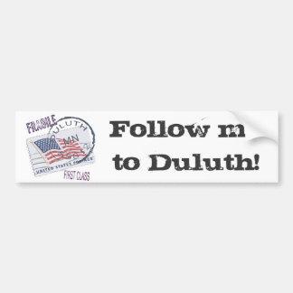 Postmark Duluth 55812 Bumper Sticker