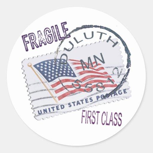 Postmark Duluth 55812 Classic Round Sticker