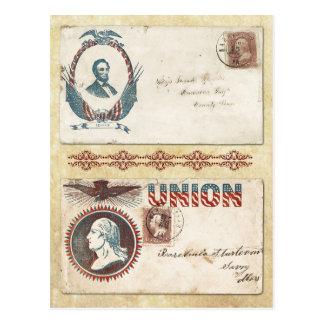 Postmarked Civil War Envelopes with Presidents Postcard