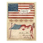 Postmarked Civil War envelopes with the U.S. Flag Postcards