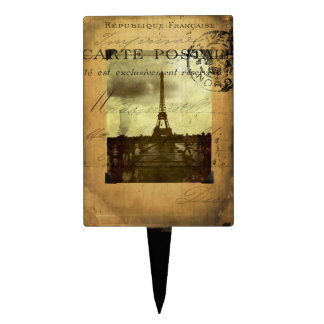 Postmarked Paris Cake Topper